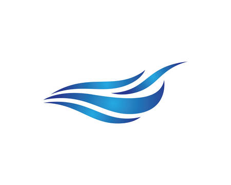 Water wave logo vector icon illustration design Illustration