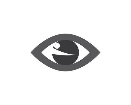 Eye logo template vector icon illustration design
