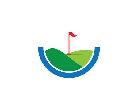 Golf logo modèle vector illustration icône design