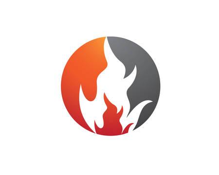 Fire flame logo template vector icon Oil, gas and energy logo concept Logo