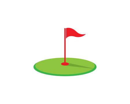 Conception d'icône de golf logo modèle vector illustration