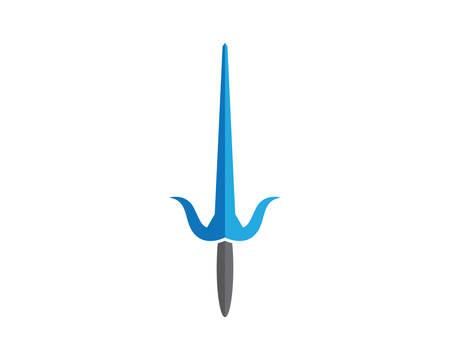 Swords template vector icon illustration design Illustration