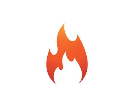 Fire flame template vector icon Oil, gas and energy concept