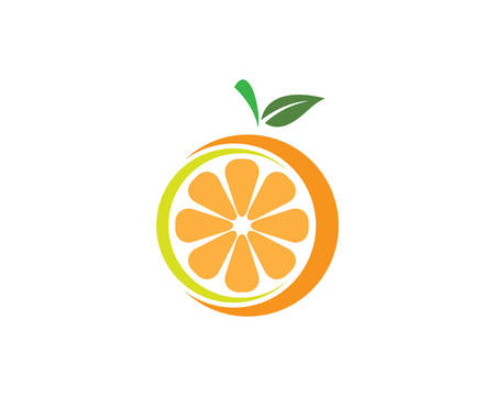 Orange template vector icon illustration design