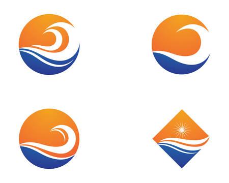 Water wave vector icon illustration design Banco de Imagens - 112808382