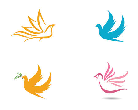 Dove template vector icon illustration design