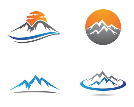 High Mountain icon  Business Template Vector