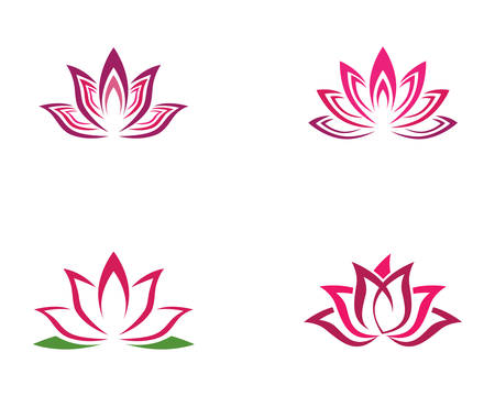 Beauty vector flowers design Template icon Illustration
