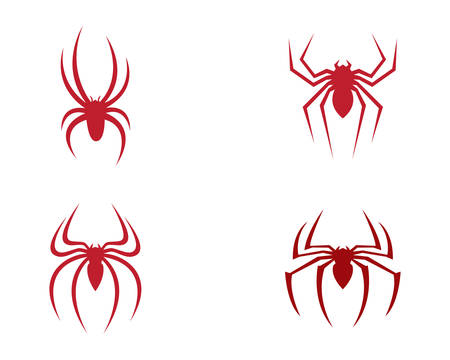Spider template vector icon illustration design
