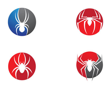 Spider template vector icon illustration design