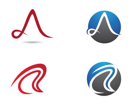 A letter vector icon illustration design Illustration
