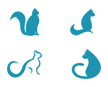 Cat breeds cute pet animal set vector illustration Illustration