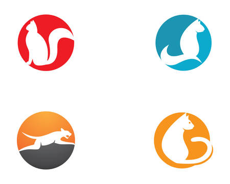 Cat breeds cute pet animal set vector illustration 向量圖像