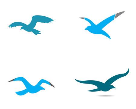 Seagull template icon illustration design