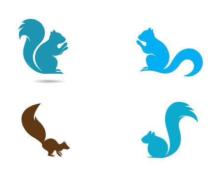 Diseño de ilustración de icono de plantilla de ardilla