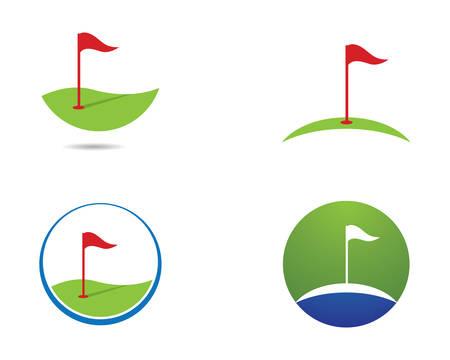 Golfschablonenillustrationsikonendesign Vektorgrafik