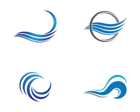 Water wave icon illustration design