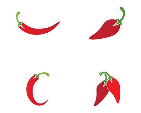 Chili template icon illustration design Vetores