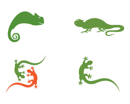 Lizard template icon illustration design
