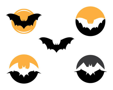 Bat template icon illustration design 矢量图像