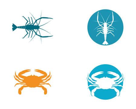 Crab template icon illustration design
