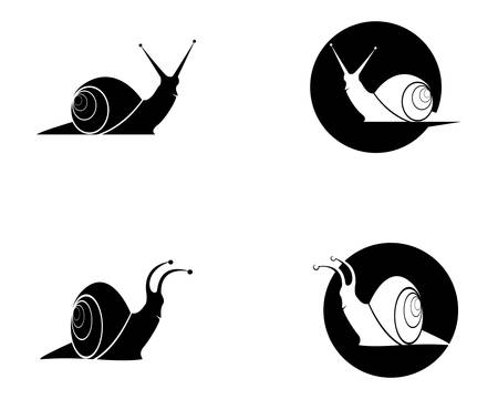 Snail template icon illustration design