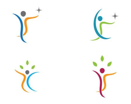 Healthy life logo template vector icon illustration design Ilustração