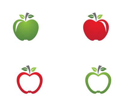 Apple logo template vector icon illustration design