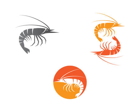 Shrimp logo template vector icon illustration design