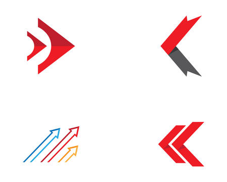 Arrow logo template vector icon illustration design Ilustração