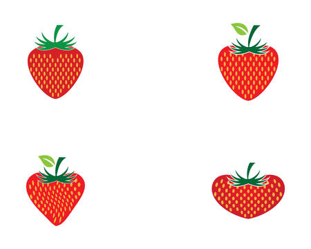 Strawberry logo template vector icon illustration design
