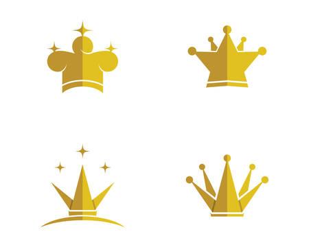 Crown template illustration Archivio Fotografico - 127301920