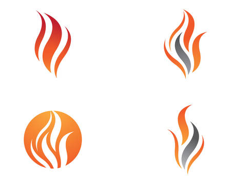 Fire flame template-icon oil, gas and energy concept
