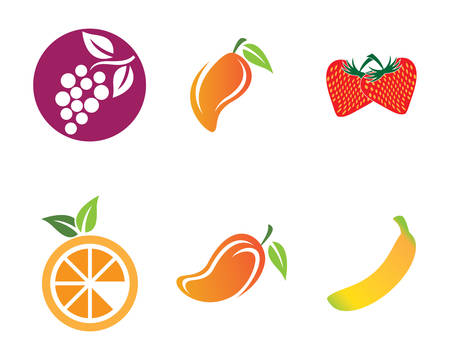 Fruits logo template vector icon illustration design Ilustração