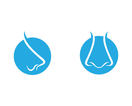 Nose logo template vector icon illustration design Ilustração