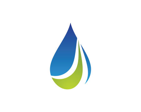 Water drop logo template vector icon illustration design