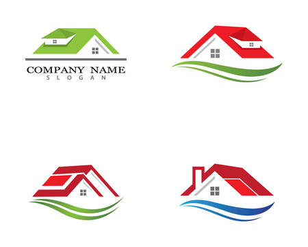 Property logo template vector icon illustration design