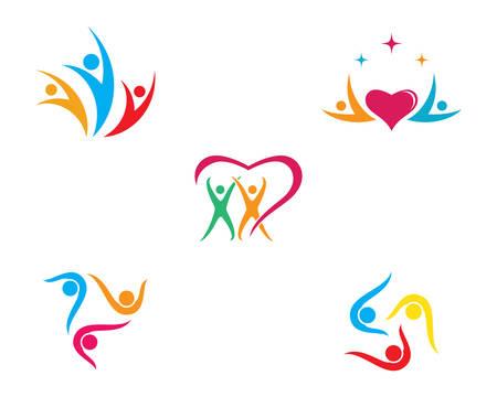Adoption and community care template icon illustration design Ilustracja