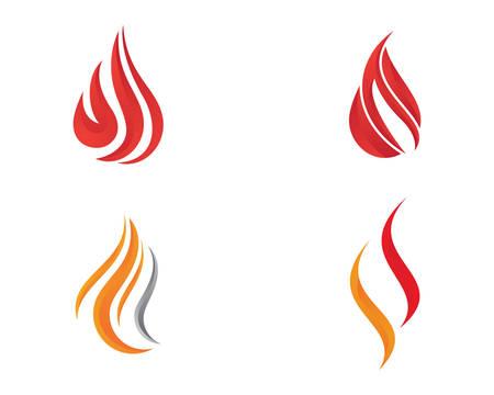 Fire flame logo template vector icon illustration design Logo