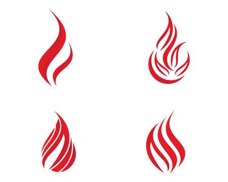 Fire flame logo template vector icon illustration design