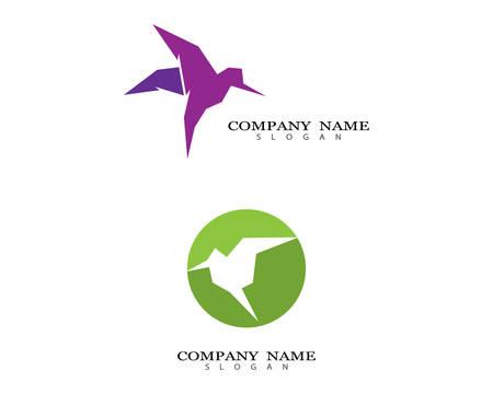 Hummingbird logo template vector icon illustration design Stock Illustratie