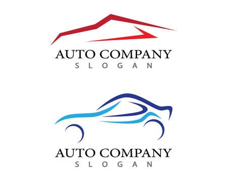 Auto car logo template vector icon illustration design