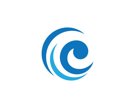 Water wave logo vector icon illustration design Banco de Imagens - 117710541
