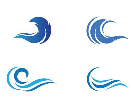 Water wave logo vector icon illustration design Banco de Imagens - 117710558