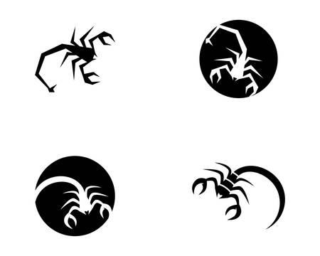 Scorpion logo template vector illustration  イラスト・ベクター素材