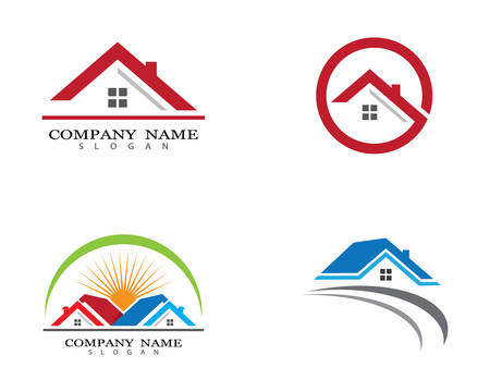 Property logo template vector icon illustration design Stock Vector - 118903305