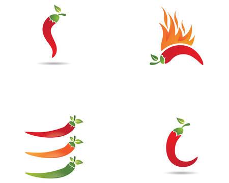 Chili logo template vector icon illustration design Logo