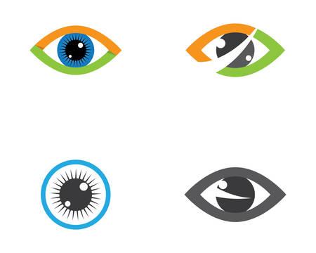 Diseño de logotipo de vector de cuidado ocular corporativo de identidad de marca