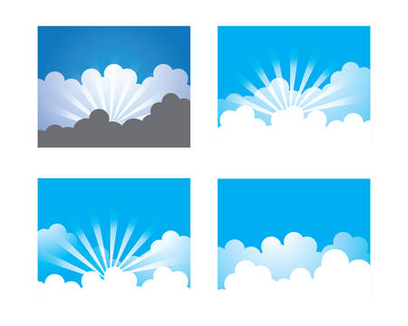 Blue sky with cloud vector icon illustration design