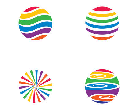Abstract logo template vector icon illustration design